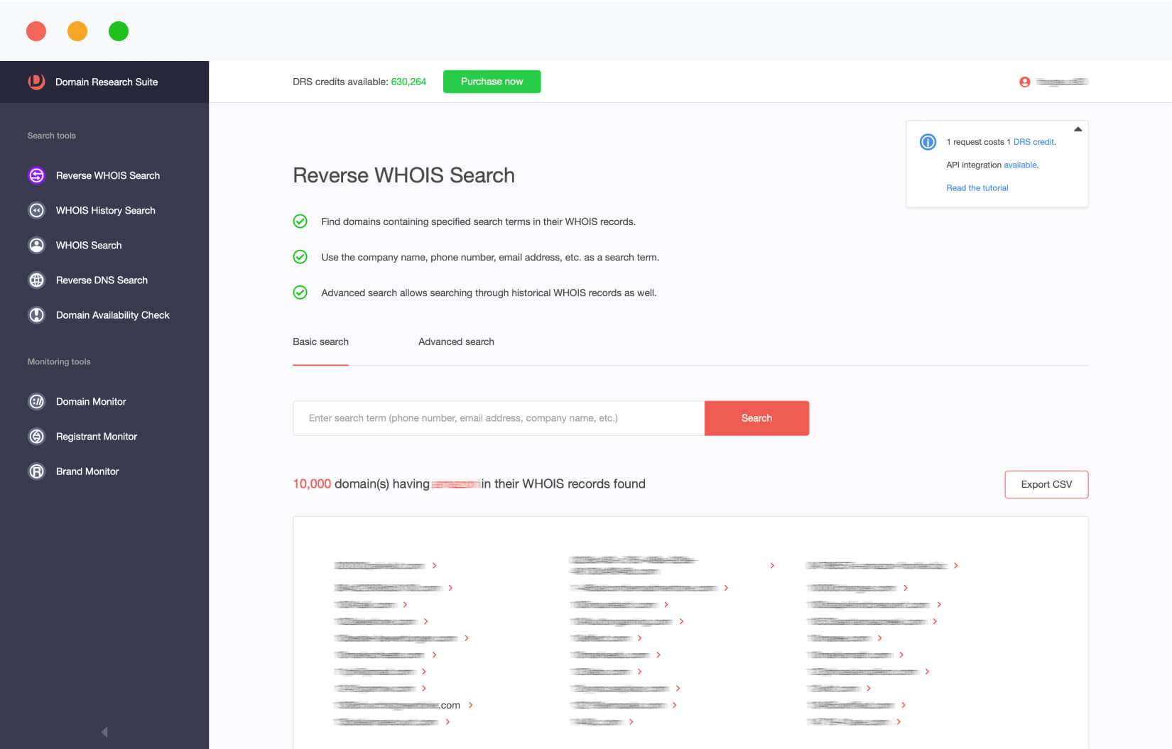 Reverse WHOIS Search | Domain Research Suite | WhoisXML API